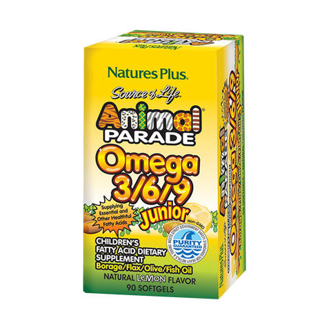 Animal Parade Omega 3/6/9 Junior Softgels
