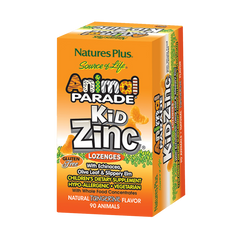 90 Serving Animal Parade KidZinc Lozenges - Tangerine Flavor
