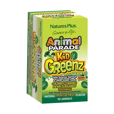 Animal Parade KidGreenz Children's Chewables - Tropical Fruit Flavor