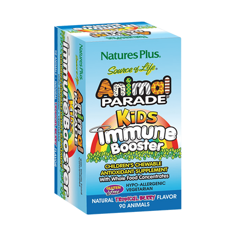 45 Serving Animal Parade Kids Immune Booster Chewable - Tropical Berry Flavor