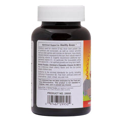 Animal Parade Vitamin D3 500 IU Children`s Chewable - Black Cherry Flavor Supplement Label