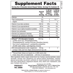 Animal Parade DHA Children's Chewable Supplement Facts
