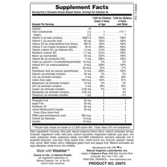 Animal Parade Children's Chewable Multi - Cherry Flavor Supplement Facts