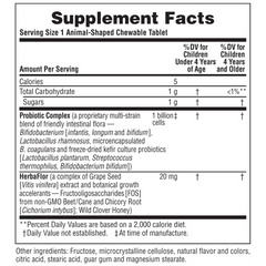 AcidophiKidz Supplement Facts