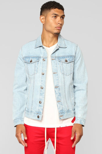 STYLED ON INSTAGRAM Cobain Denim Jacket - Light Blue Wash