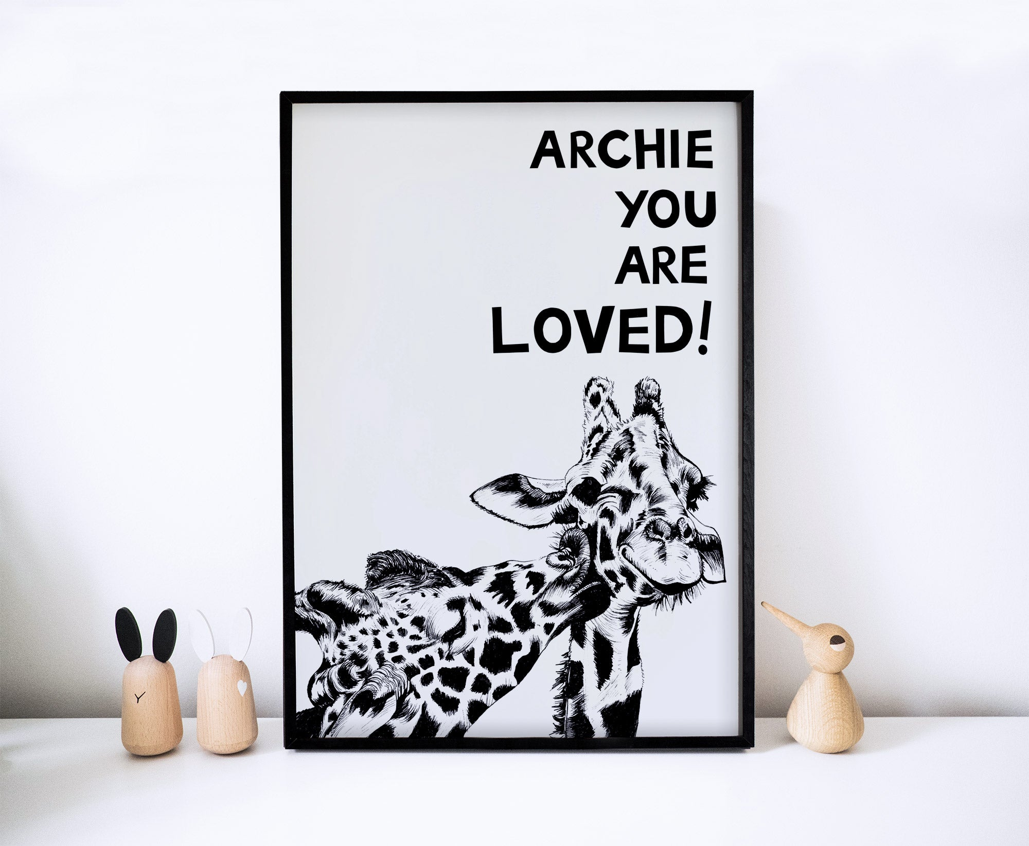 You Are Loved! Giraffes
