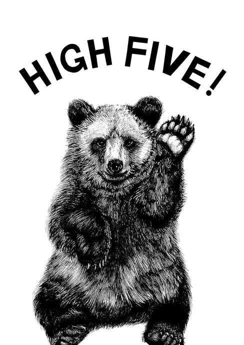 High Five! Bear Cub