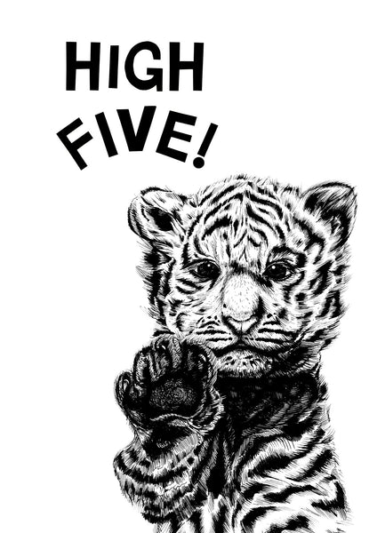 High Five! White Tiger