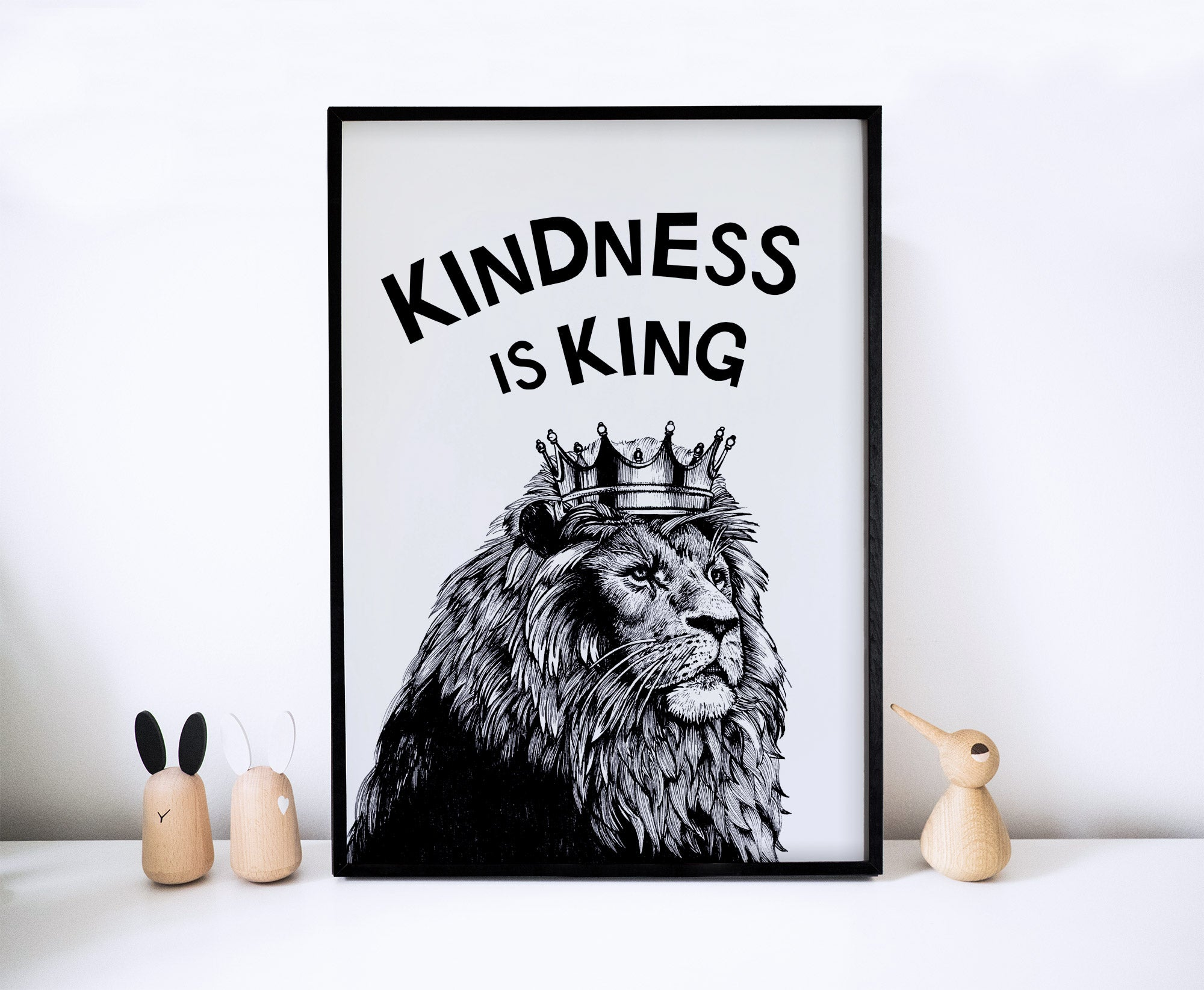 Kindness Is King Lion