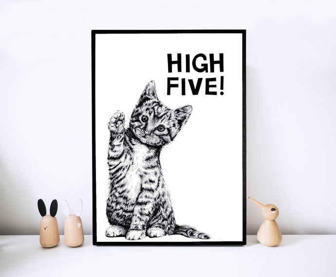 High Five! Kitten