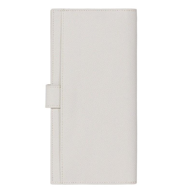 FINE LEATHER PASSPORT WALLET IN STORM