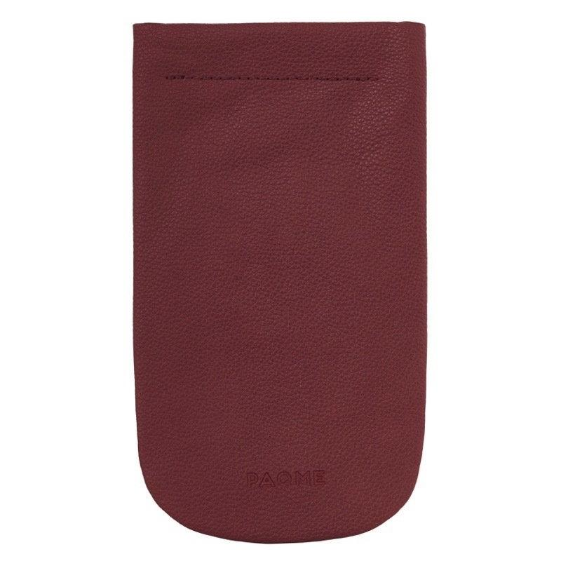FINE LEATHER TRAVEL SUNGLASSES CASE IN BURGUNDY
