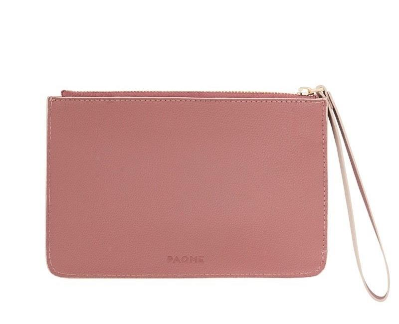 WOMENS FINE LEATHER CLUTCH IN WARM