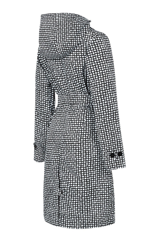 WOMENS 'TRENCH' RAINCOAT IN BLACK DALMATIAN