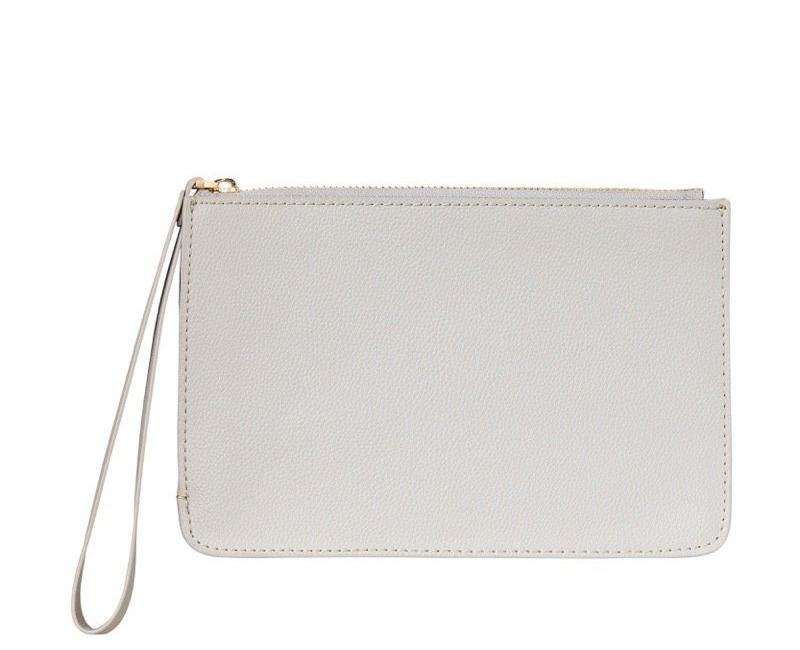 WOMENS FINE LEATHER CLUTCH IN STORM
