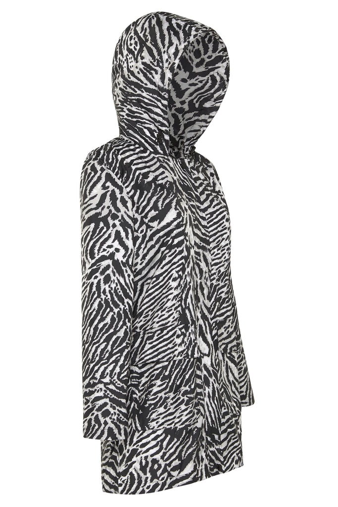 WOMENS '3/4 JACKET' RAINCOAT IN TIGER