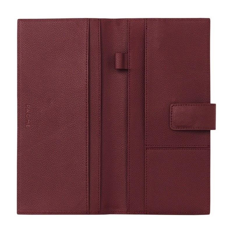 FINE LEATHER PASSPORT WALLET IN BURGUNDY