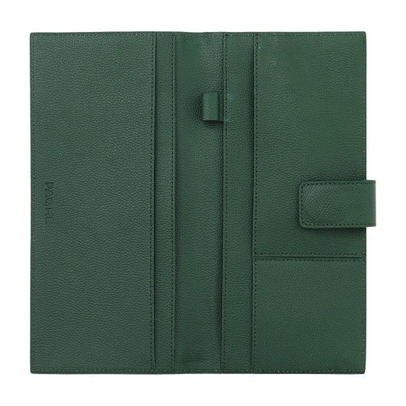 FINE LEATHER PASSPORT WALLET IN EMERALD