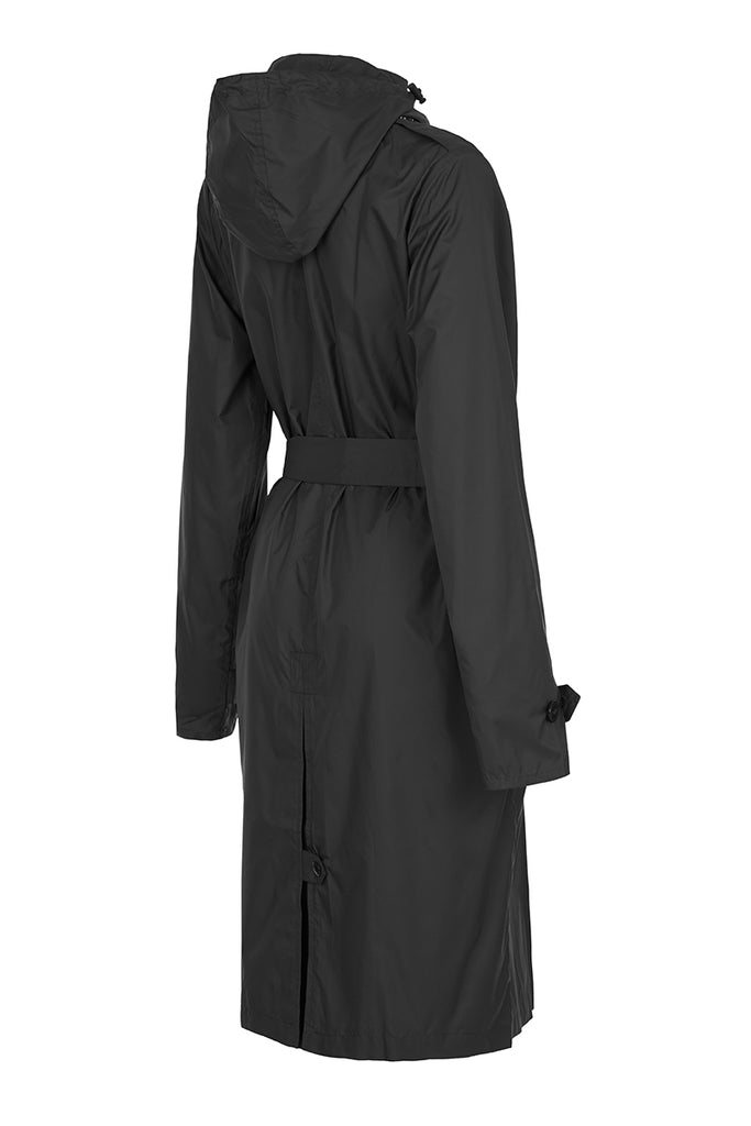 WOMENS 'ANYWHERE' RAINCOAT IN BLACK | M-L & L-XL