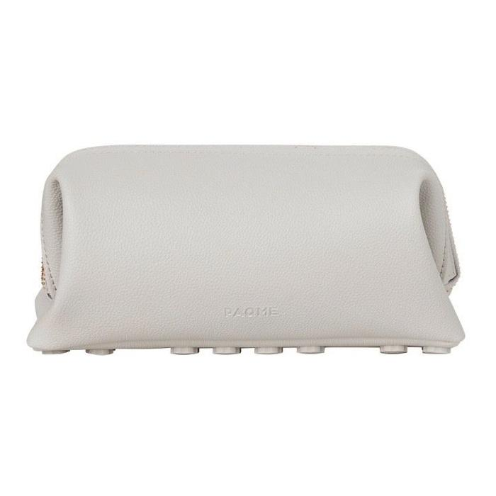 FINE LEATHER TRAVEL TOILETRY BAG IN STORM