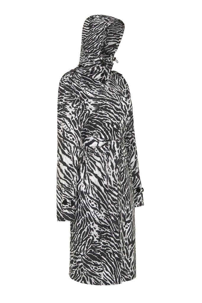 WOMENS 'TRENCH' RAINCOAT IN TIGER