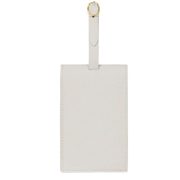 FINE LEATHER LUGGAGE TAG IN STORM