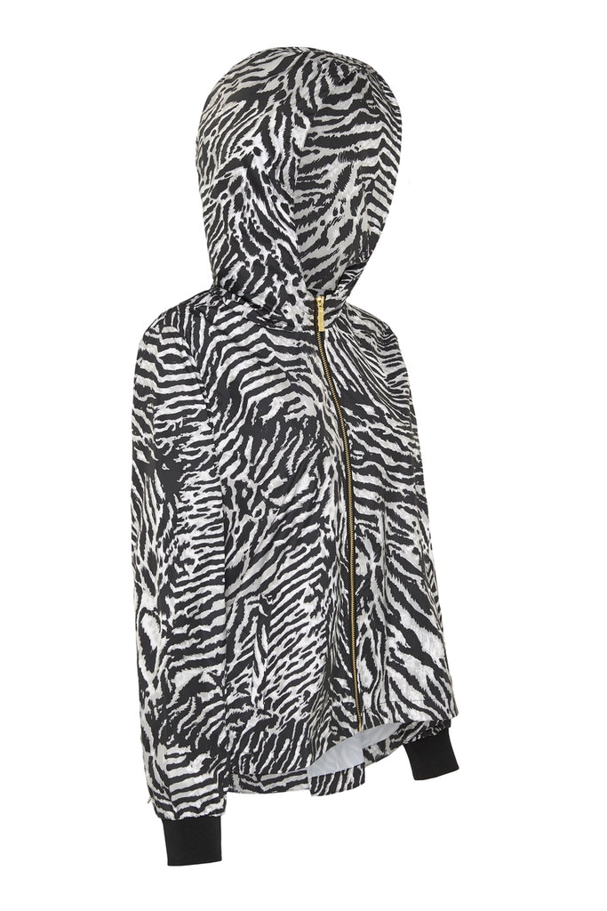 WOMENS 'CROP' RAINCOAT IN TIGER