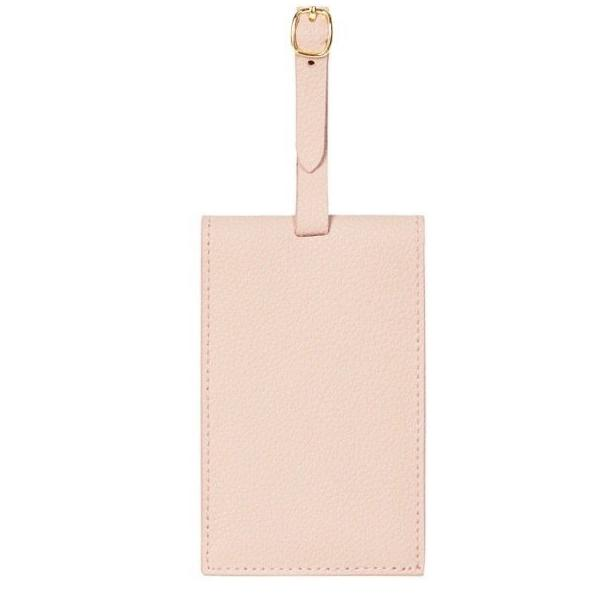 FINE LEATHER LUGGAGE TAG IN WARM