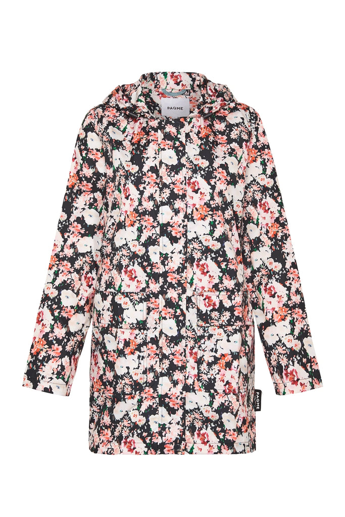 WOMENS 'RECYCLED' 3/4 RAINCOAT IN FLEUR