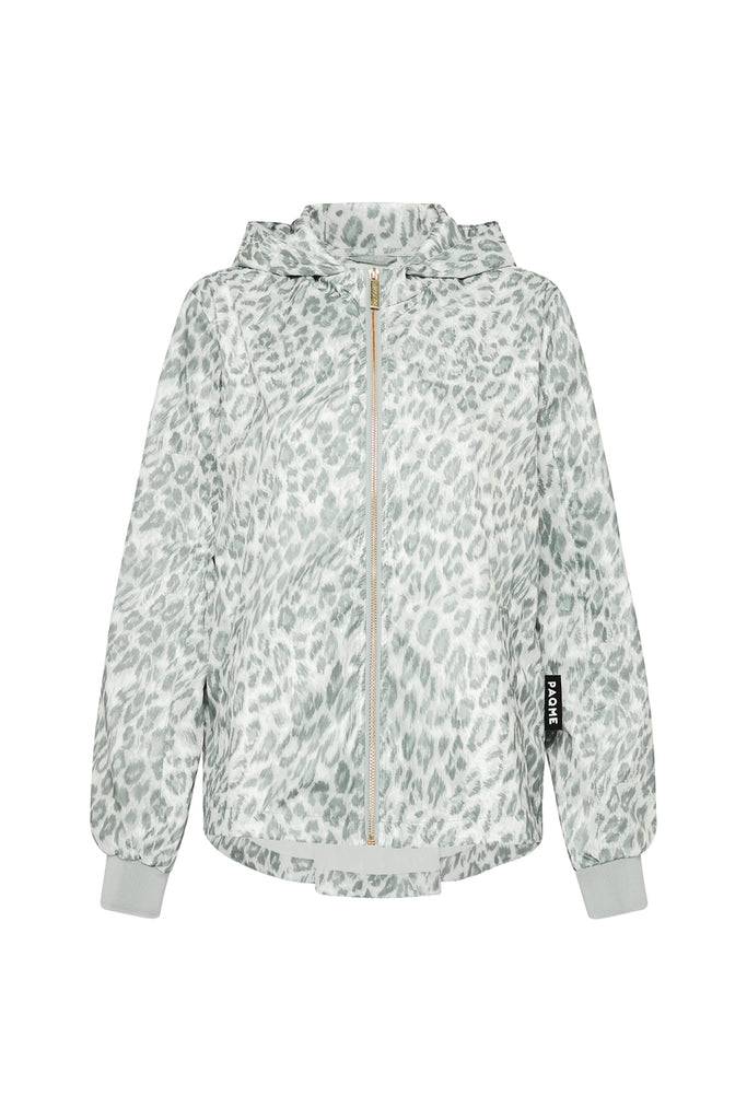 WOMENS 'CROP' RECYCLED RAINCOAT IN LEOPARD SMUDGE | PAQME