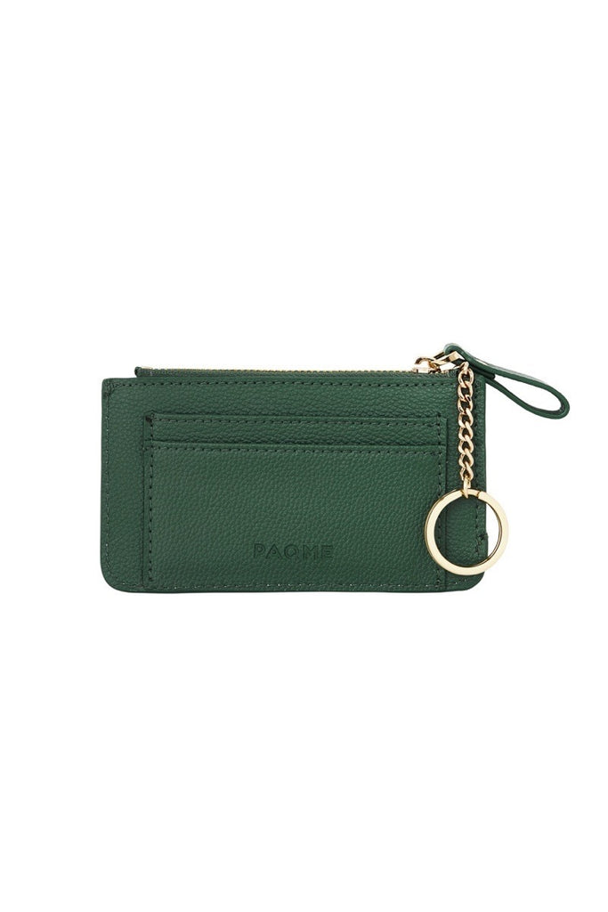 WOMENS FINE LEATHER TRAVEL POUCH IN EMERALD