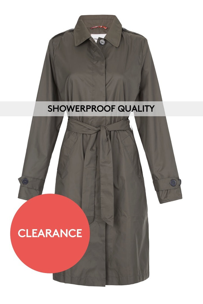 WOMENS 'ANYWHERE' RAINCOAT IN KHAKI | M-L & L-XL