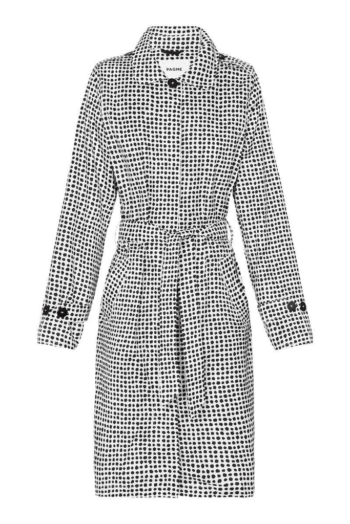 WOMENS 'TRENCH' RAINCOAT IN DALMATIAN