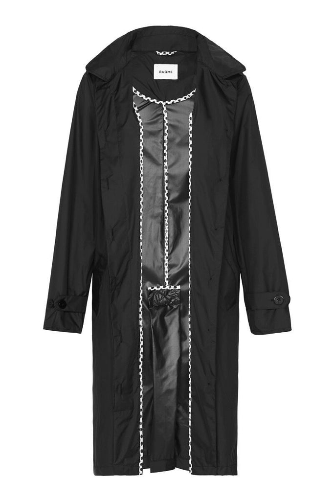 WOMENS 'TRENCH' RAINCOAT IN BLACK