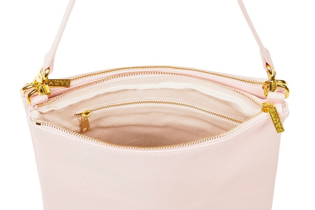 "WOMENS DUO 15"" LAPTOP SHOULDER BAG IN BLUSH / SALE"
