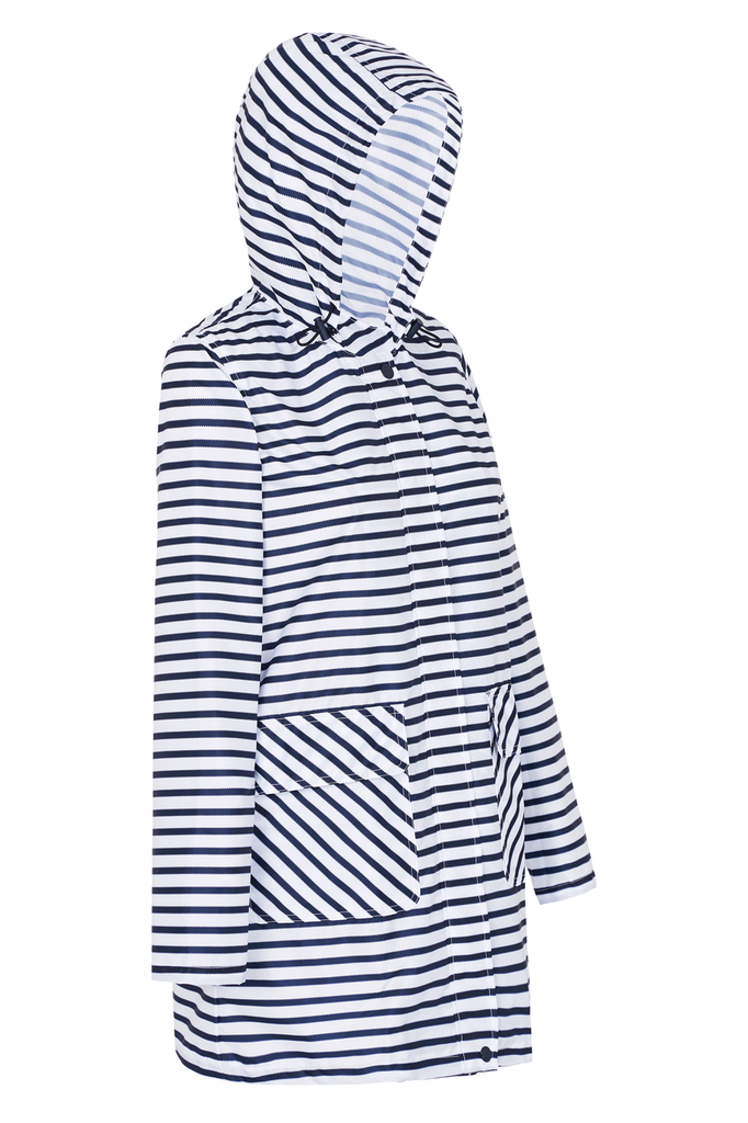 WOMENS '3/4 JACKET' RAINCOAT IN ZIG STRIPE