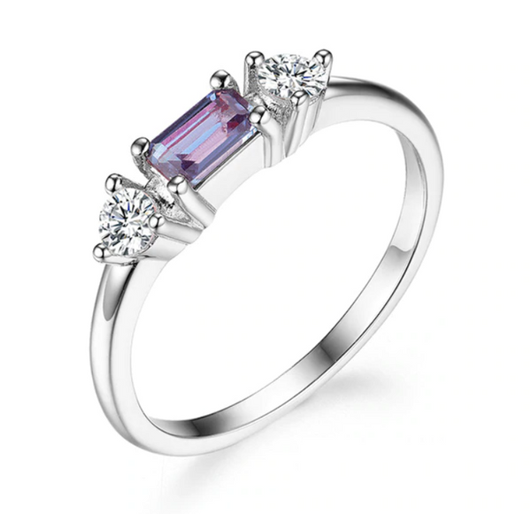 925 Sterling Silver Alexandrite Ring