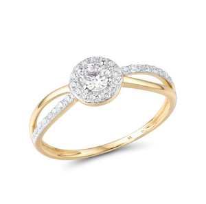 9K Yellow Gold 0.66Ct Cubic Zirconia Ring
