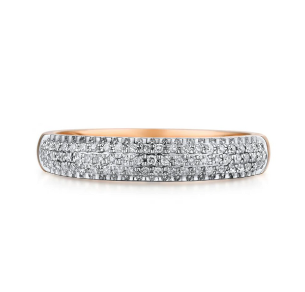 14K Rose Gold 0.20Ct Diamond Ring