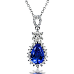18K White Gold 1.46Ct Tanzanite Pendant