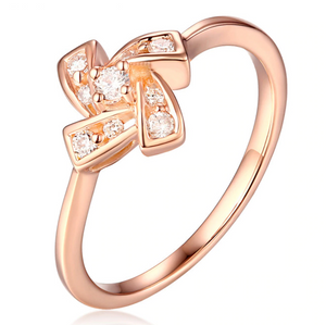 18K Rose Gold 0.23Ct Diamond Ring - Medusa Jewels