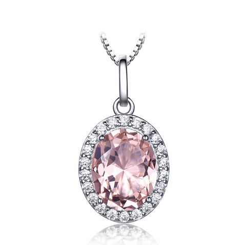925 Sterling Silver Pink Sapphire Pendant - Medusa Jewels