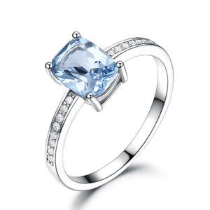 925 Sterling Silver Blue Topaz Ring - Medusa Jewels