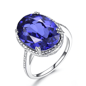 925 Sterling Silver Tanzanite Ring - Medusa Jewels