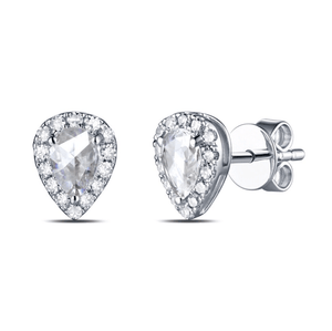 14k White Gold 0.25ct Moissanite Stud Earrings - MEDUSA JEWELS