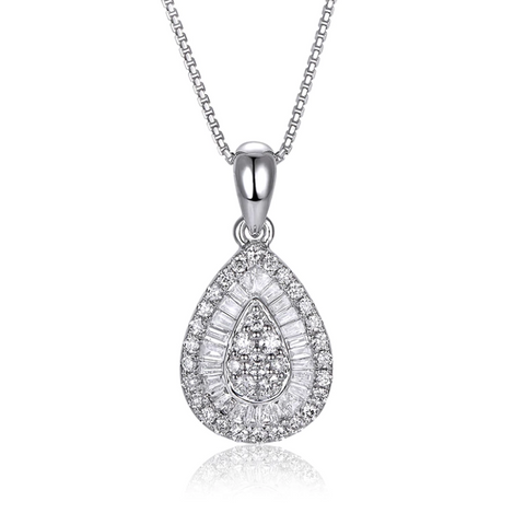 14kt White Gold 0.53ct Diamond Pendant