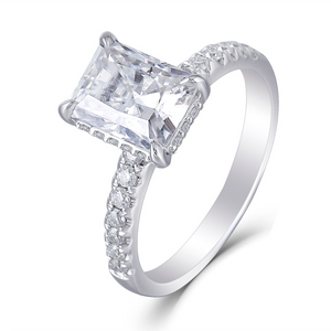 14K White Gold 1.8Ct Radiant Moissanite Ring