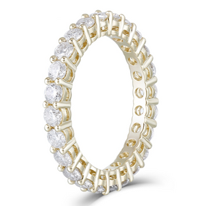 10K Yellow Gold Moissanite Eternity Band Ring