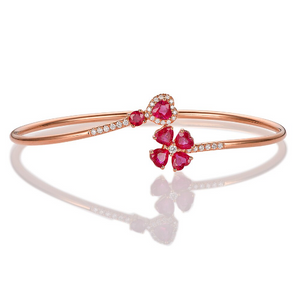 18K Rose Gold 1.79ct Ruby & 0.19ct Diamond Bracelet - Medusa Jewels