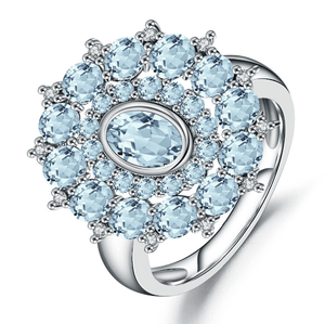 925 Sterling Silver Sky Blue Topaz Ring - Medusa Jewels